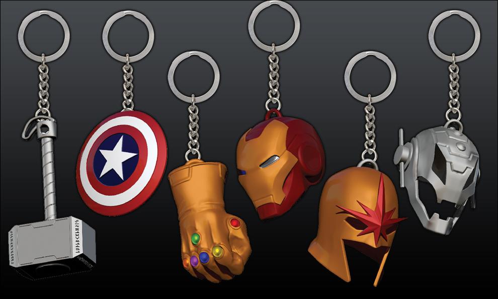 Porte-clés Marvel - Metal Keychains