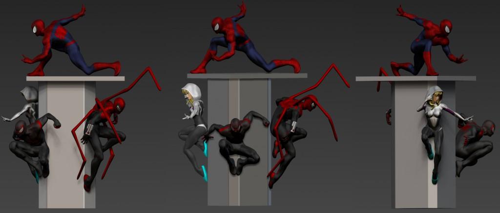 spider verse diorama